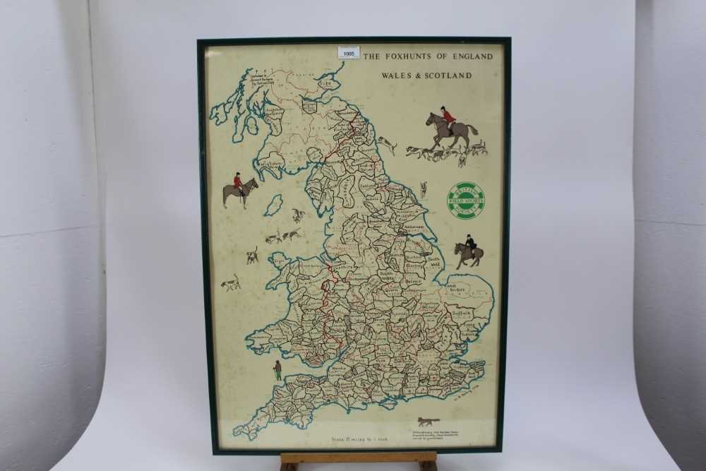 Hunting trophy in the form of a silver plated fox, mounted fox pad and Fox Hunt framed map - Image 2 of 31