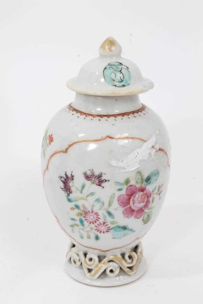 18th century Chinese caddy and cover two 19th century vases - Image 2 of 14