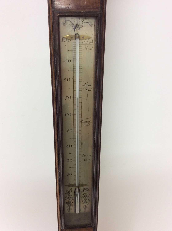 George III stick barometer by Poncione Columbo & Co, London - Image 4 of 5