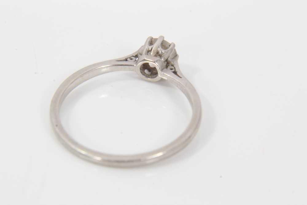 Diamond single stone ring - Image 3 of 4