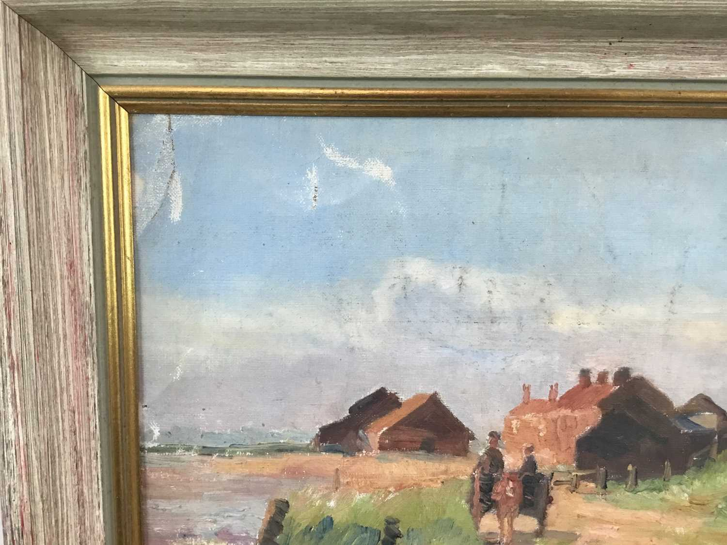 Robert G. D. Alexander (1875-1945) oil on canvas laid on board - Kirby Quay, Essex, with Carters Mil - Image 6 of 9