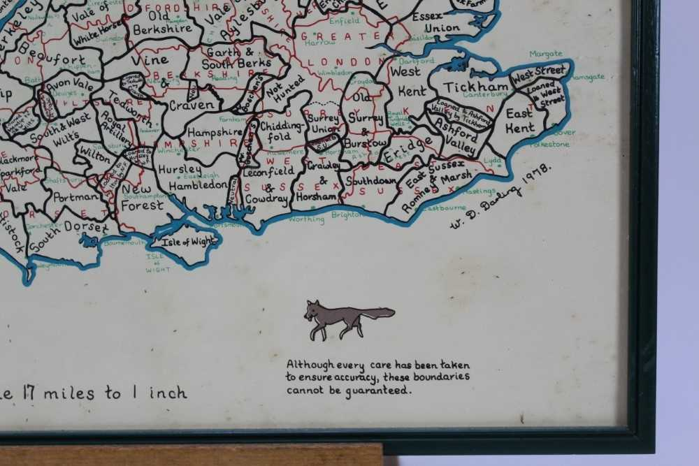 Hunting trophy in the form of a silver plated fox, mounted fox pad and Fox Hunt framed map - Image 7 of 31
