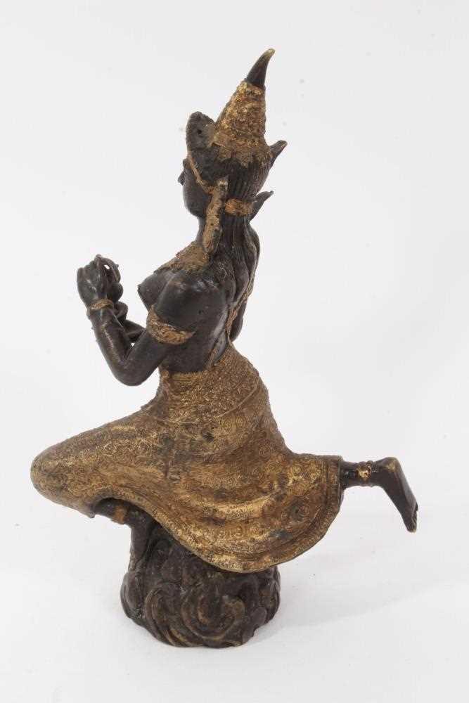 Burmese gilt bronze dancing figure - Image 2 of 5