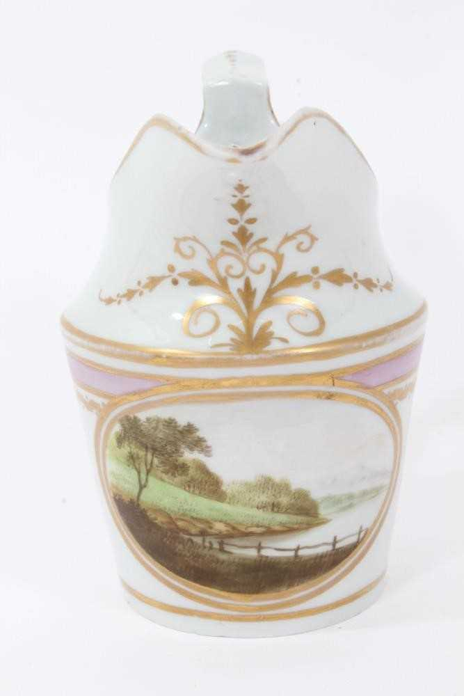 A very rare Wxxx Factory helmet shaped jug - ex Godden Reference Collection, and a Paris porcelain c - Image 5 of 10