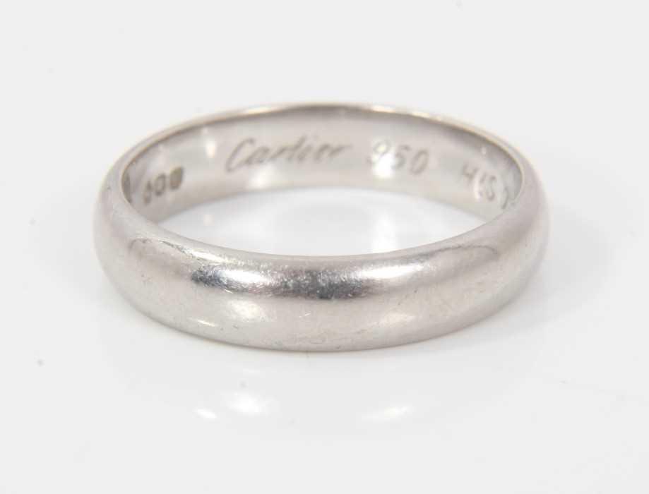 Cartier platinum wedding ring - Image 2 of 4