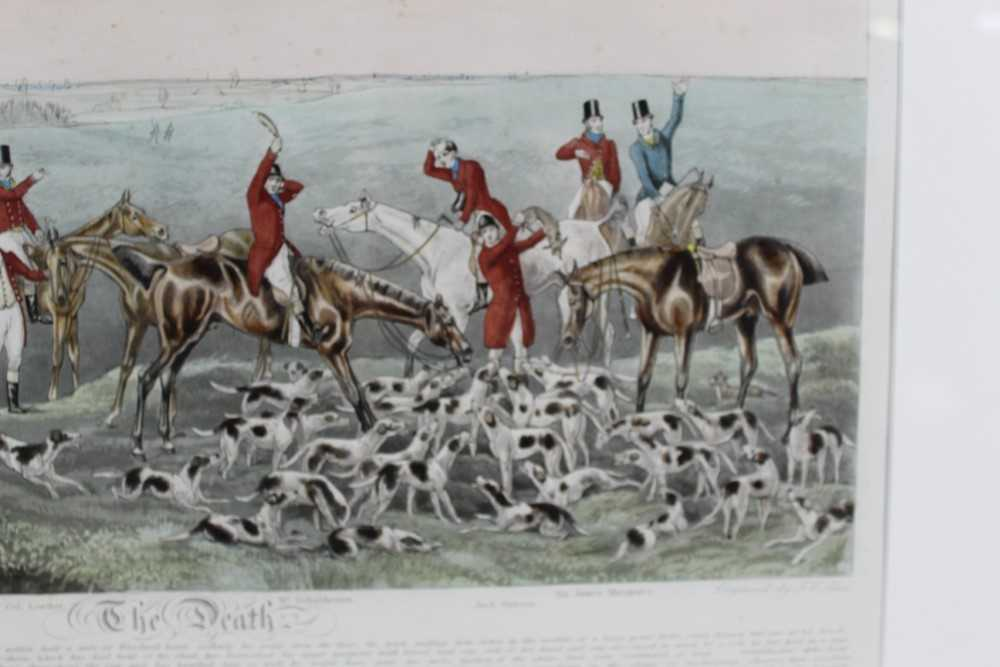 Henry Alken, five hand coloured engravings - The Quorn, in glazed frames - Image 19 of 19