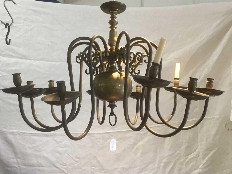 17th century style Dutch brass chandelier