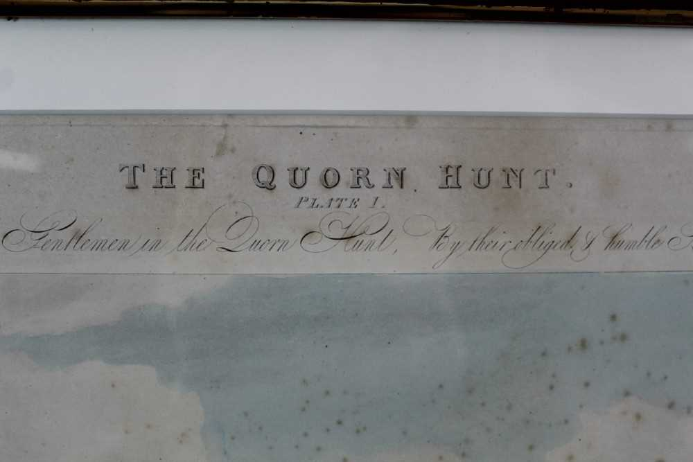 Henry Alken, five hand coloured engravings - The Quorn, in glazed frames - Image 7 of 19