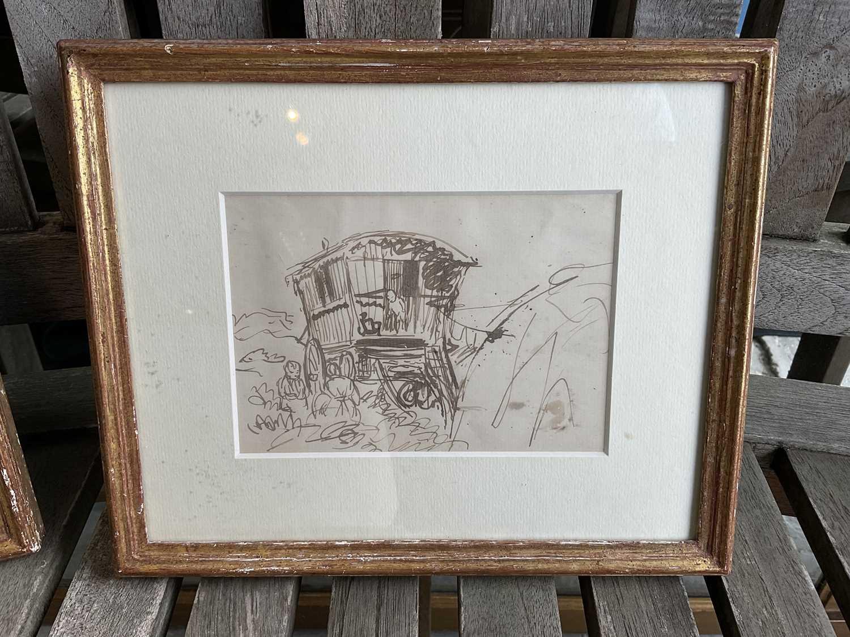 *Augustus John, pair of pen and ink drawings - Image 3 of 9