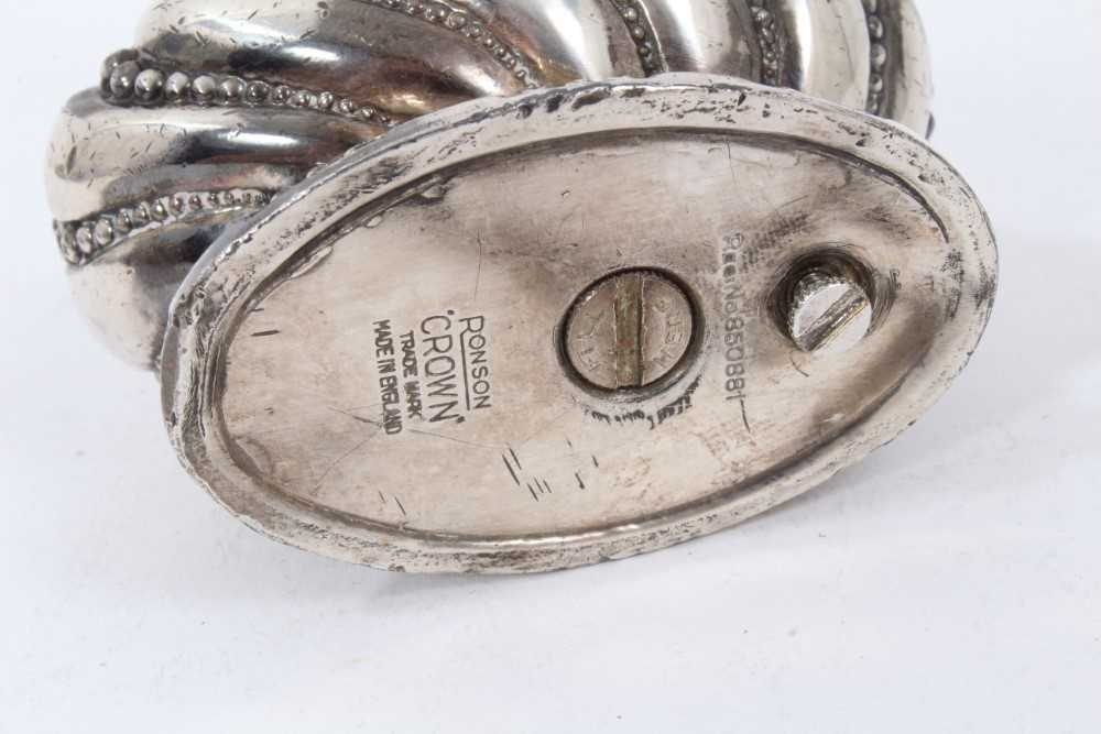 Late 1930s Dunhill silver petrol cigarette lighter (London 1939) Alfred Dunhill & Sons - Image 7 of 7