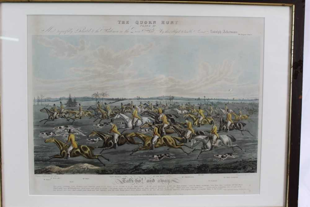 Henry Alken, five hand coloured engravings - The Quorn, in glazed frames - Image 9 of 19