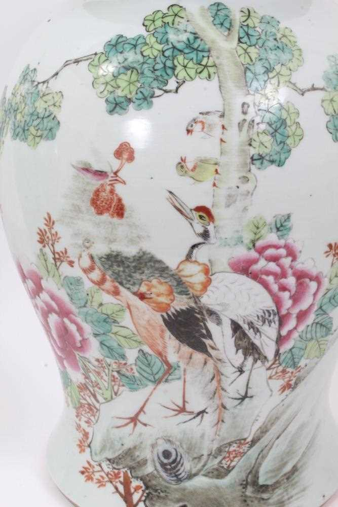 Pair of Chinese republic vases and covers - Image 11 of 16