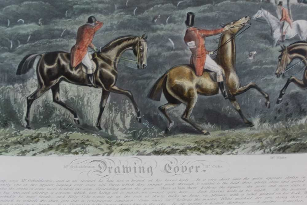 Henry Alken, five hand coloured engravings - The Quorn, in glazed frames - Image 3 of 19