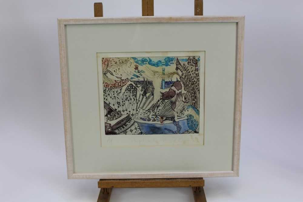 Group of contemporary signed etching etchings, prints and other works, mostly East Anglian artists t - Image 22 of 42