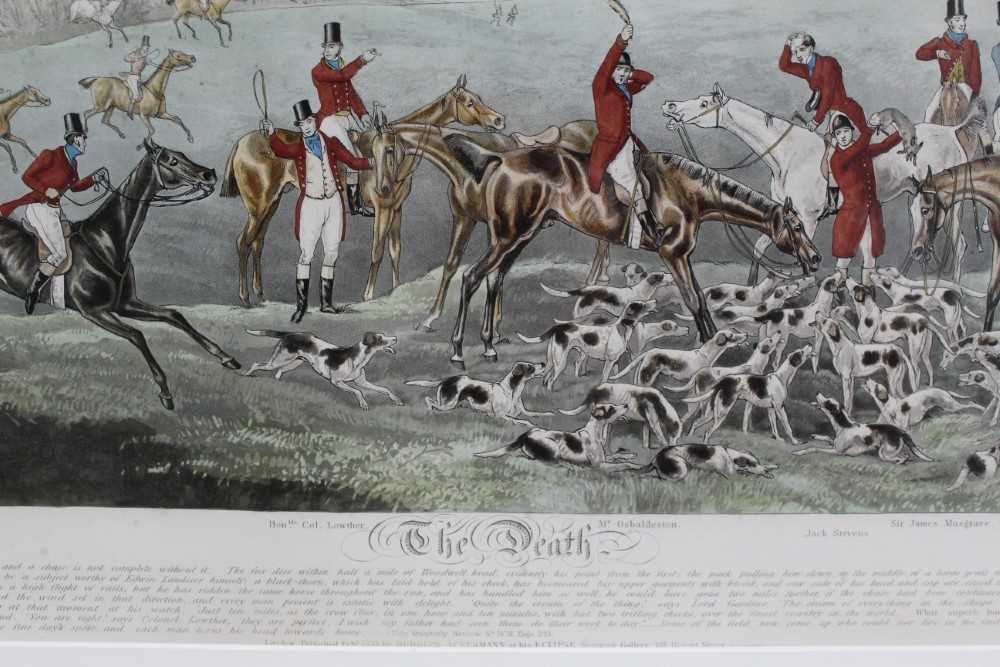 Henry Alken, five hand coloured engravings - The Quorn, in glazed frames - Image 18 of 19