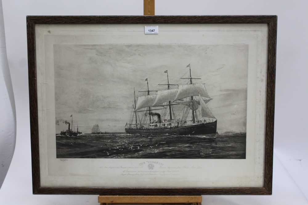 """William Lionel Wyllie (1851-1931) signed black and white engraving - White Star Line """"The Oceanic"""", - Image 2 of 15"""