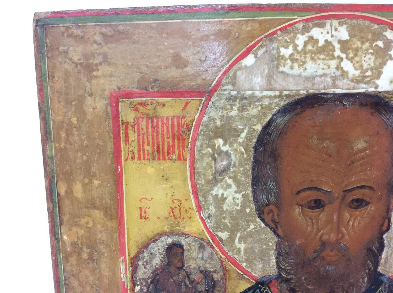 St Nicholas of Myra, 18th Century Russian polychrome painted Icon - Image 2 of 9