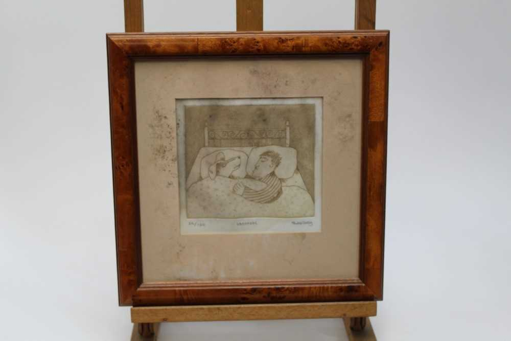 Group of contemporary signed etching etchings, prints and other works, mostly East Anglian artists t - Image 42 of 42
