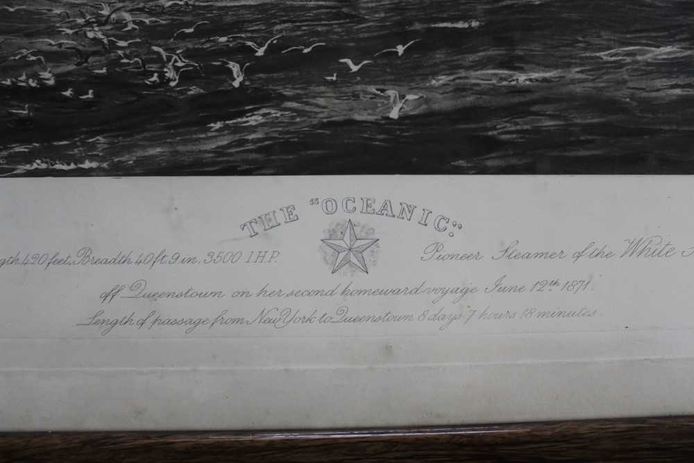 """William Lionel Wyllie (1851-1931) signed black and white engraving - White Star Line """"The Oceanic"""", - Image 6 of 15"""