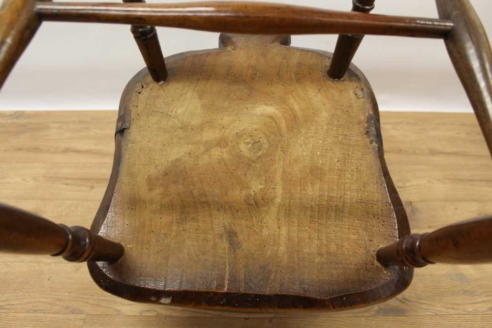 Mid 19th century elm and fruitwood stick back Windsor chair - Image 6 of 6