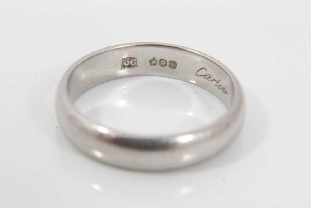 Cartier platinum wedding ring - Image 3 of 4