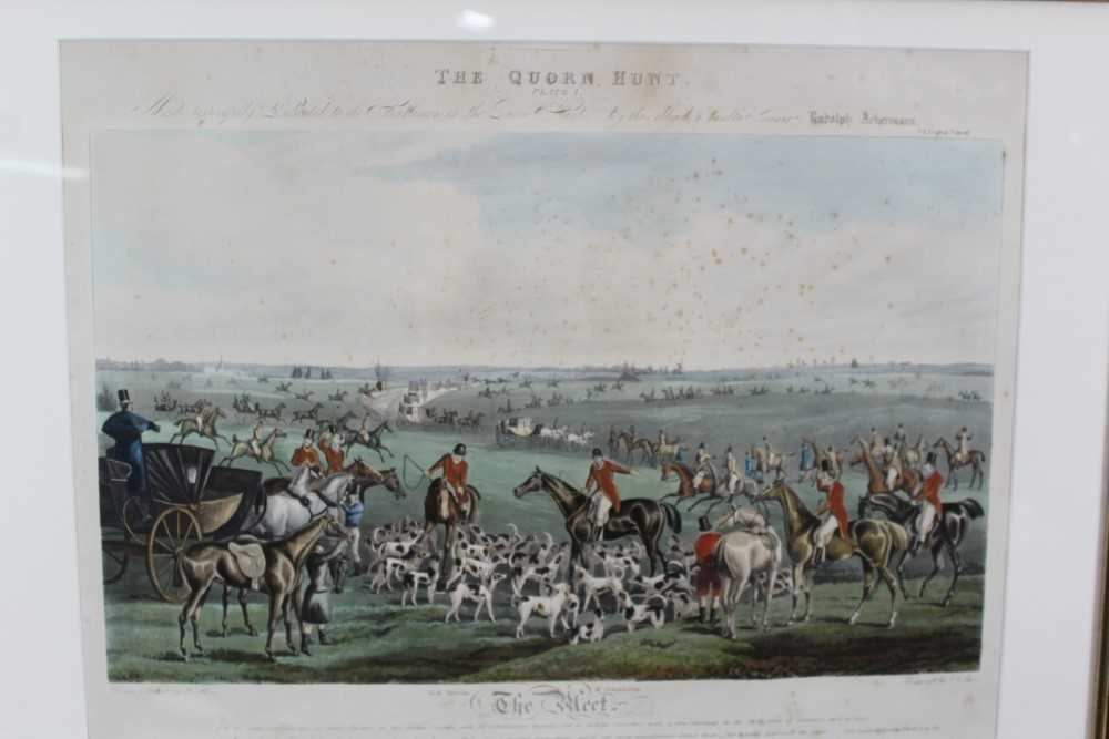 Henry Alken, five hand coloured engravings - The Quorn, in glazed frames - Image 6 of 19
