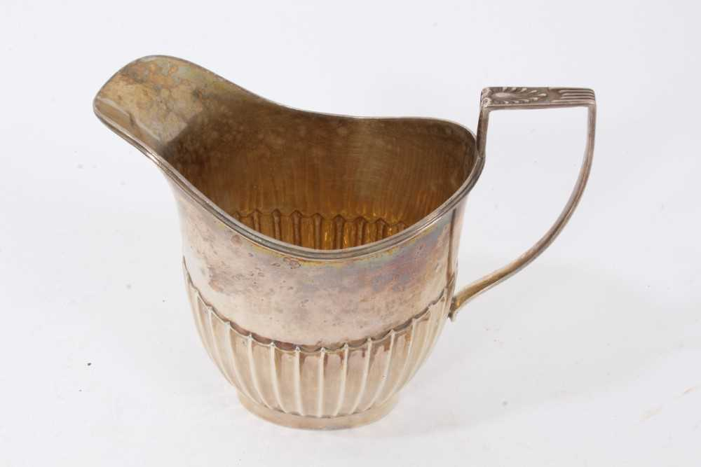 Georgian silver milk jug with intertwined serpent handle, and two others items - Image 4 of 8