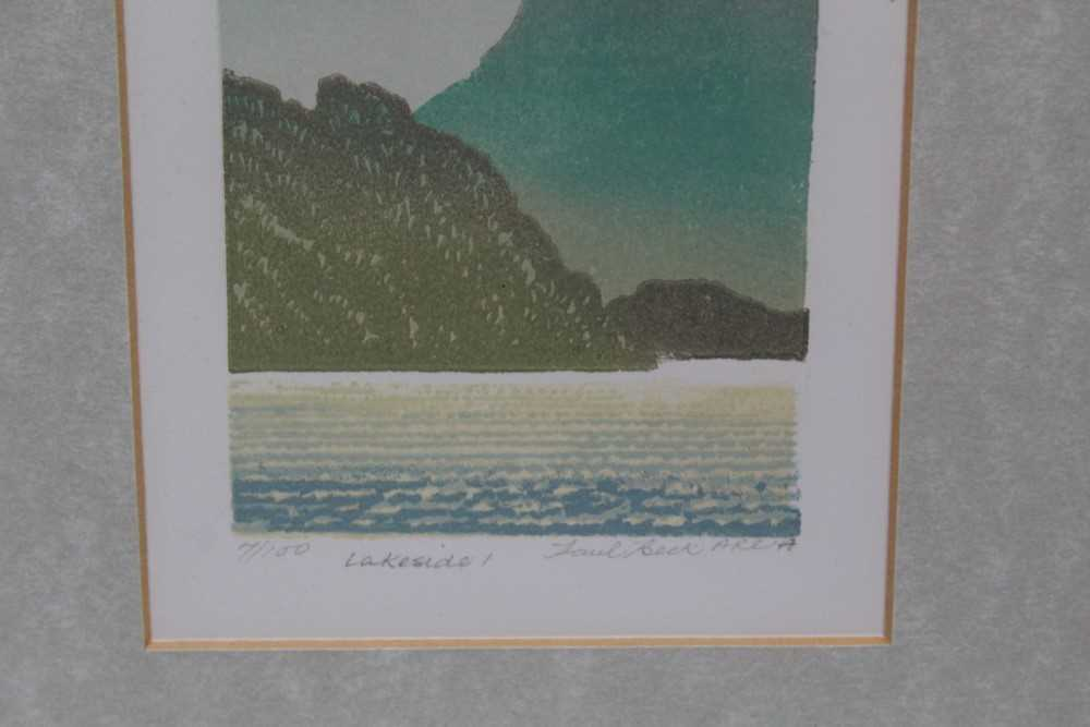 Group of contemporary signed etching etchings, prints and other works, mostly East Anglian artists t - Image 35 of 42