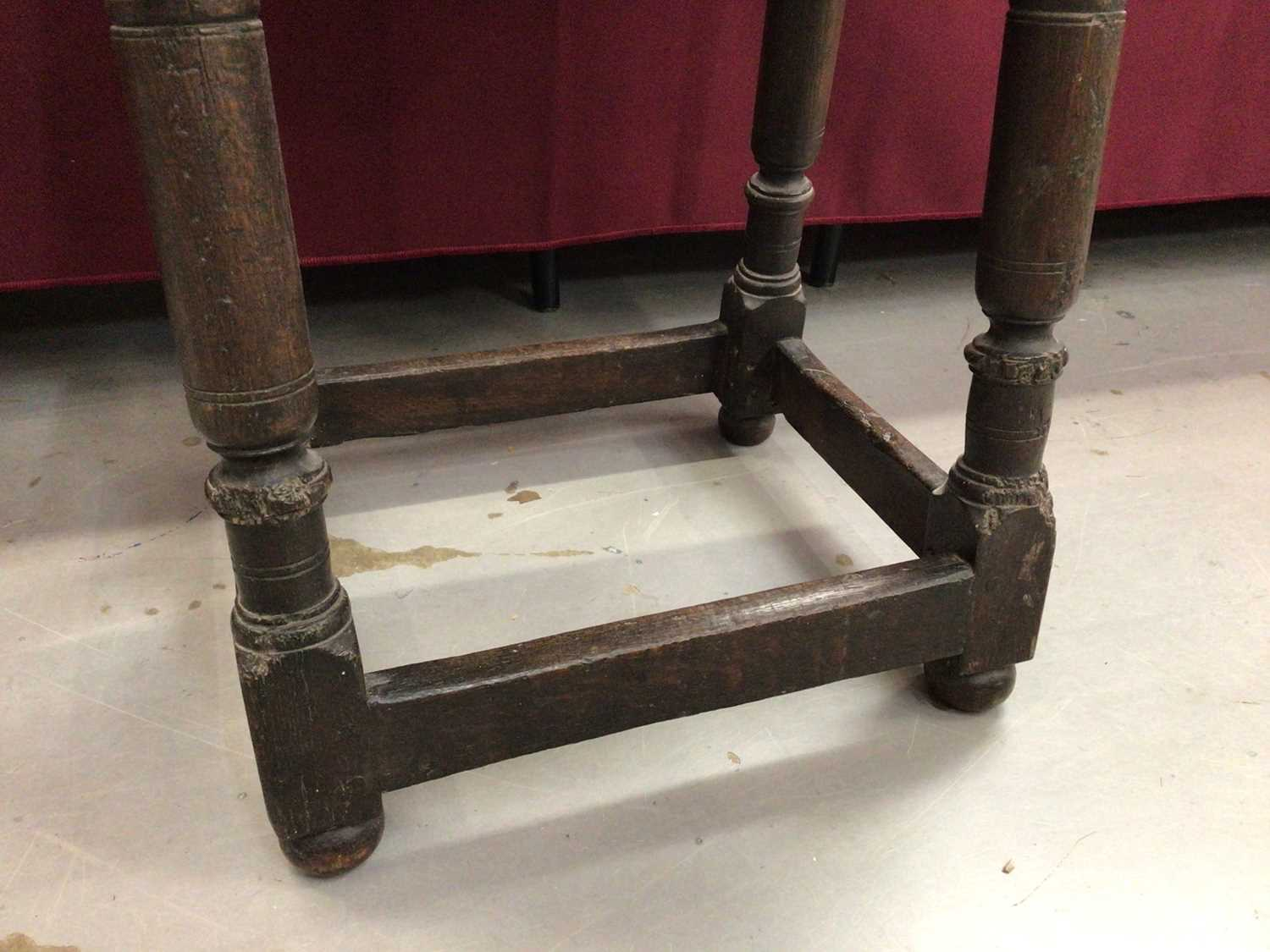 17th century and later oak joint stool - Image 3 of 5