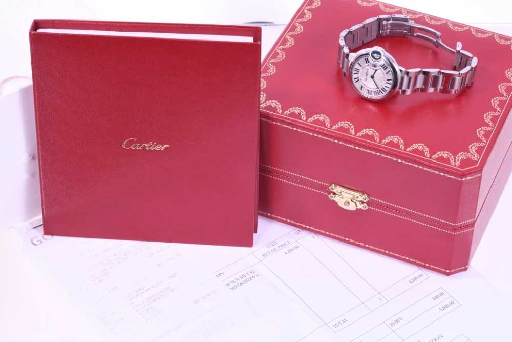 Cartier Ballon Bleu stainless wristwatch - Image 4 of 4