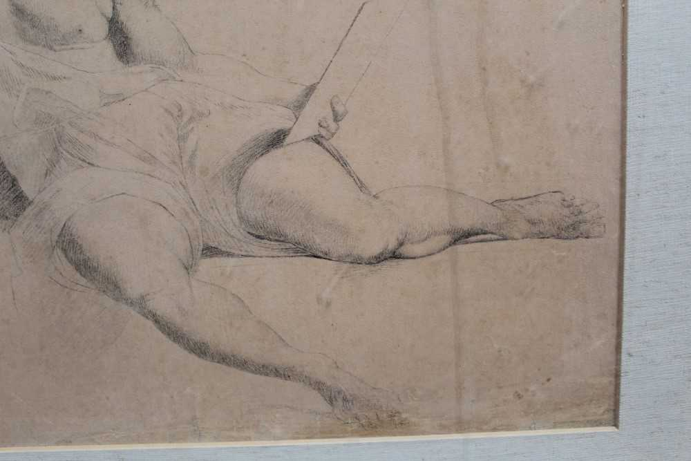 Manner of James Barry (1741-1806) pair of drawings - studies of the Sistine Chapel after Michelangel - Image 4 of 11