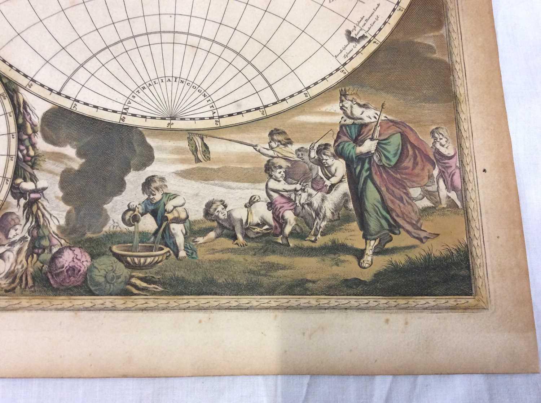 Frederick De Wit - Nova Orbis Tabula, in Lucem Edita, late 17th century hand coloured engraved map o - Image 9 of 11