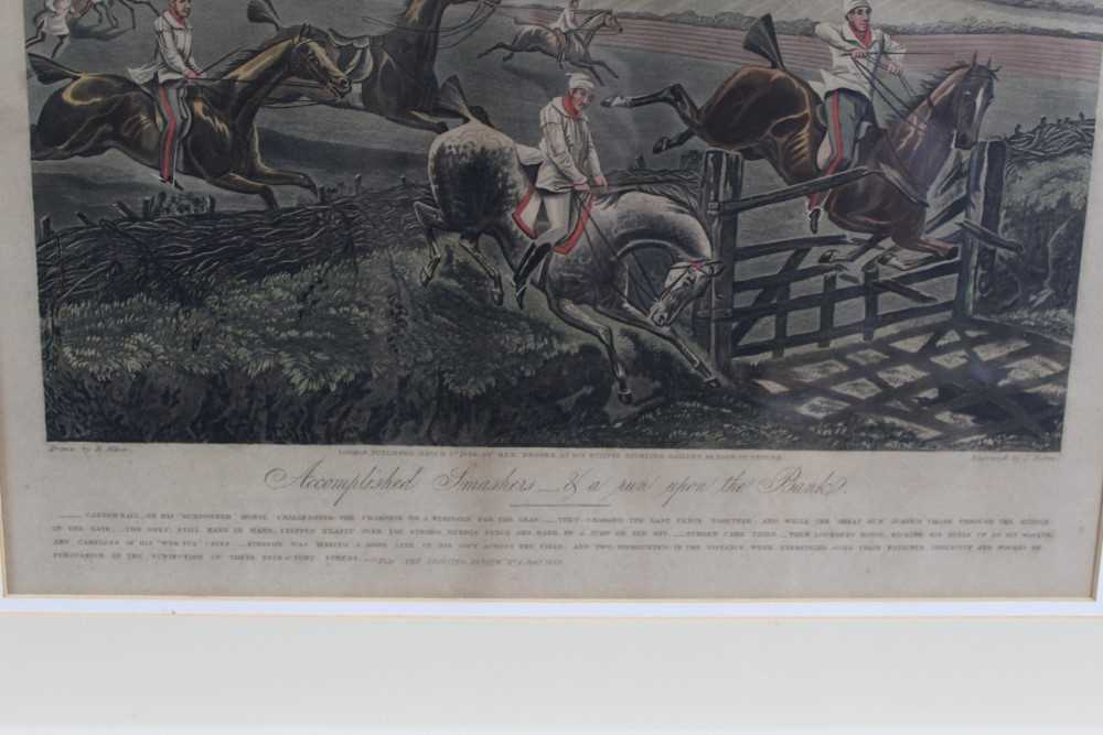Henry Alken, set of four hand coloured engravings - First Steeple Chase on Record - Image 11 of 11