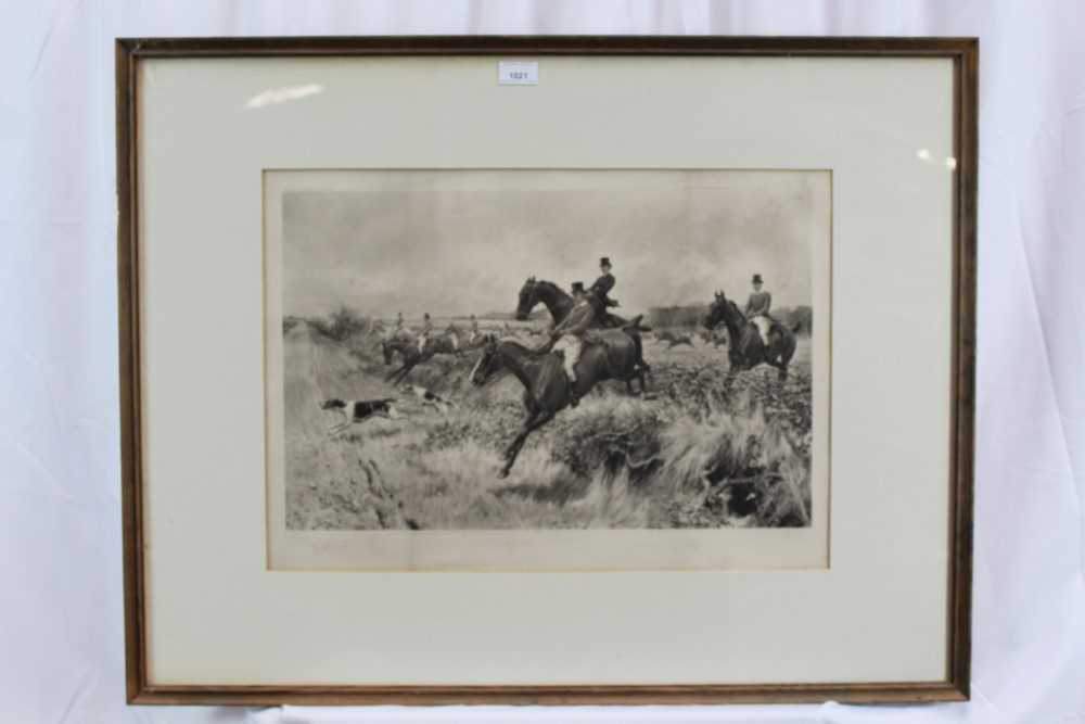 Thomas Blinks (1860-1912) three signed photogravures - Hunting Scenes, 40cm x 57cm, in glazed frames - Image 2 of 15