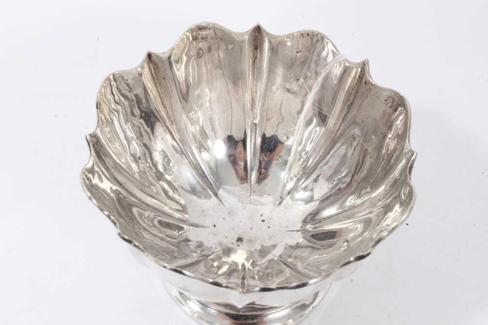 George V silver bowl of fluted form. - Image 2 of 3