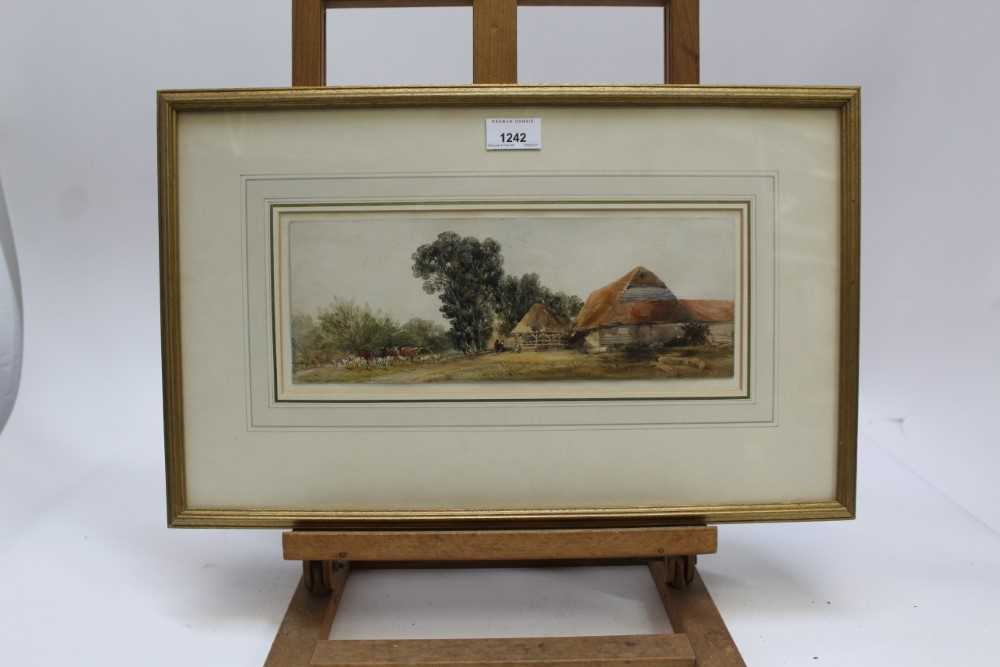 Edward Duncan (1803-1882) watercolour- Landscape with cattle - Image 2 of 7