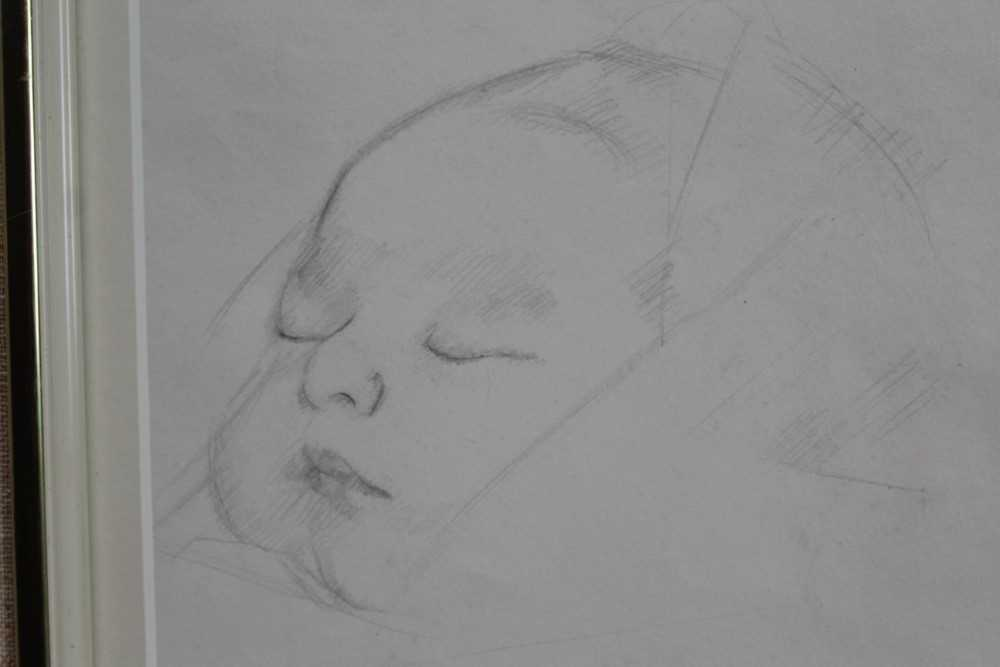 Robert Sargent Austin (1895-1973) pair of pencil drawings - Restful Sleep and Baby Asleep, one dated - Image 9 of 10