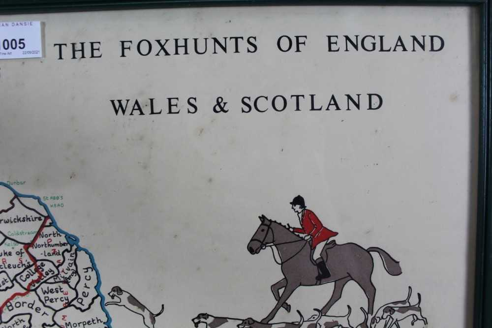 Hunting trophy in the form of a silver plated fox, mounted fox pad and Fox Hunt framed map - Image 3 of 31