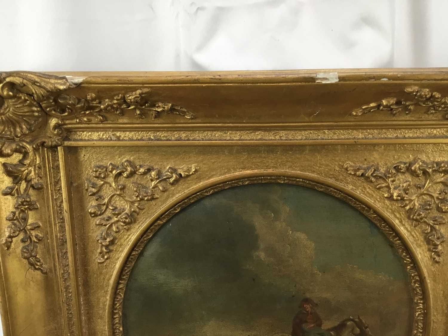 17th/18th century Dutch School oil on panel, tondo - Going to Market, inscribed verso Camphuysen, in - Image 6 of 11