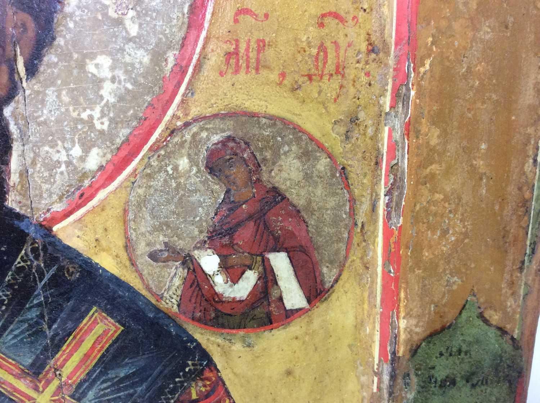 St Nicholas of Myra, 18th Century Russian polychrome painted Icon - Image 5 of 9