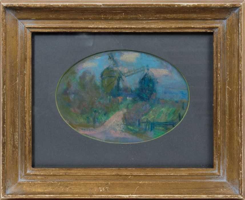 *Peggy Somerville (1918-1975) pastel - The Mill at Westleton, in glazed gilt frame Provenance: D