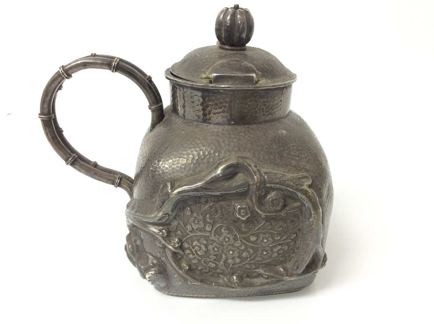 Chinese silver teapot and jug - Image 3 of 12