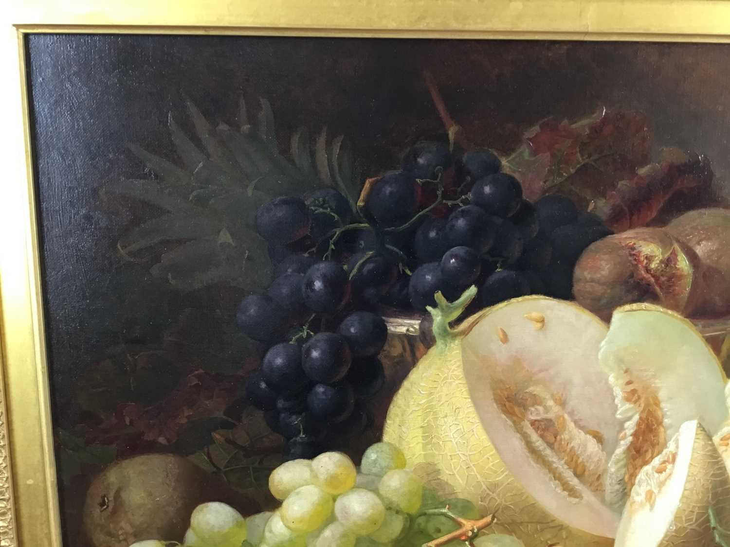 Eloise Harriet Stannard (1828-1915) oil on canvas, Peaches and grapes - Image 3 of 10