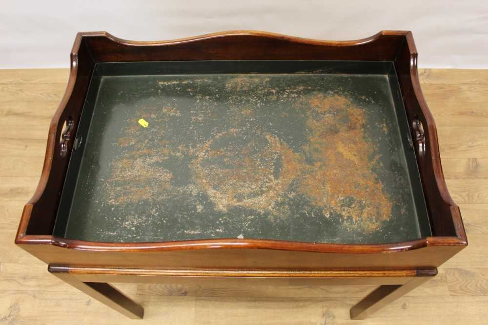 Mahogany butler's tray on stand - Image 3 of 5