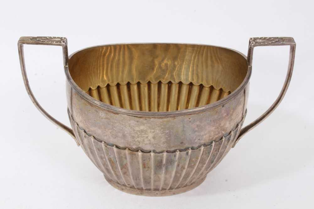 Georgian silver milk jug with intertwined serpent handle, and two others items - Image 2 of 8