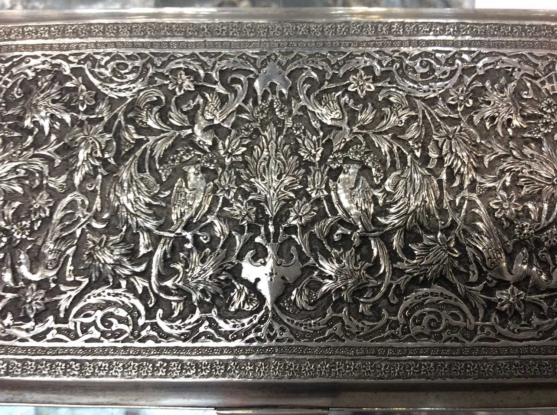Iranian silver cigarette box. - Image 3 of 5