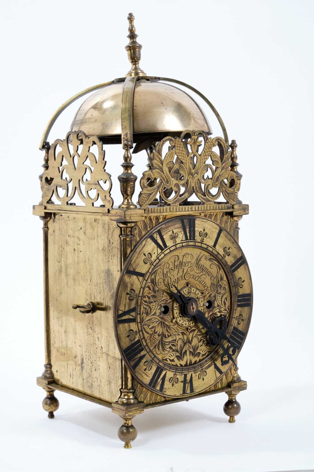 Good quality brass lantern clock Provenance: Removed from Argyll House, Kings Road, London - Image 2 of 3