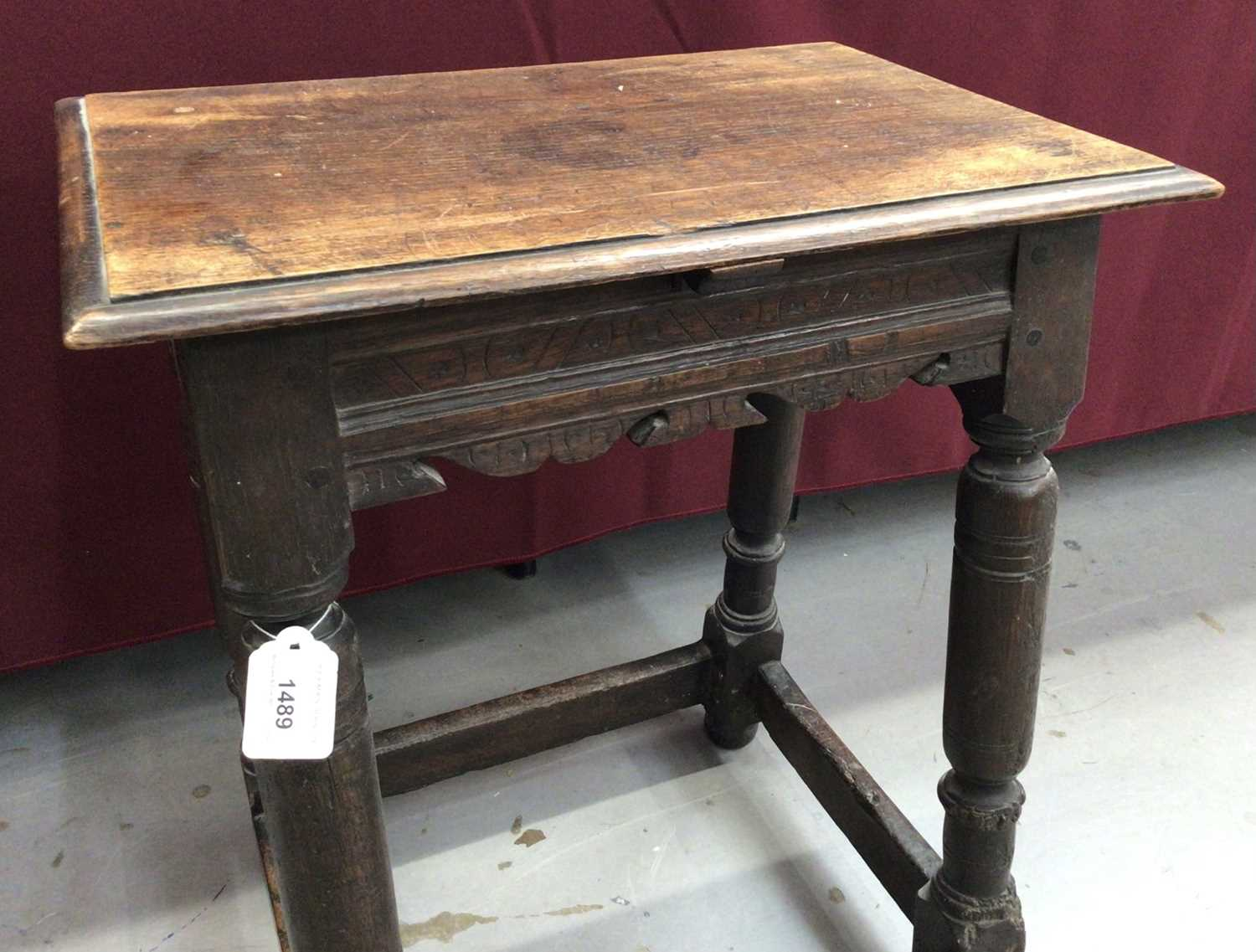 17th century and later oak joint stool - Image 5 of 5
