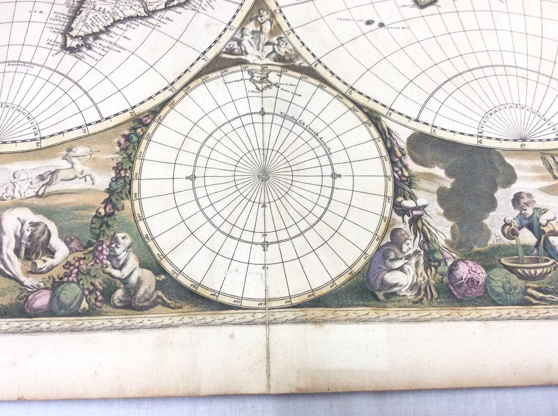 Frederick De Wit - Nova Orbis Tabula, in Lucem Edita, late 17th century hand coloured engraved map o - Image 8 of 11