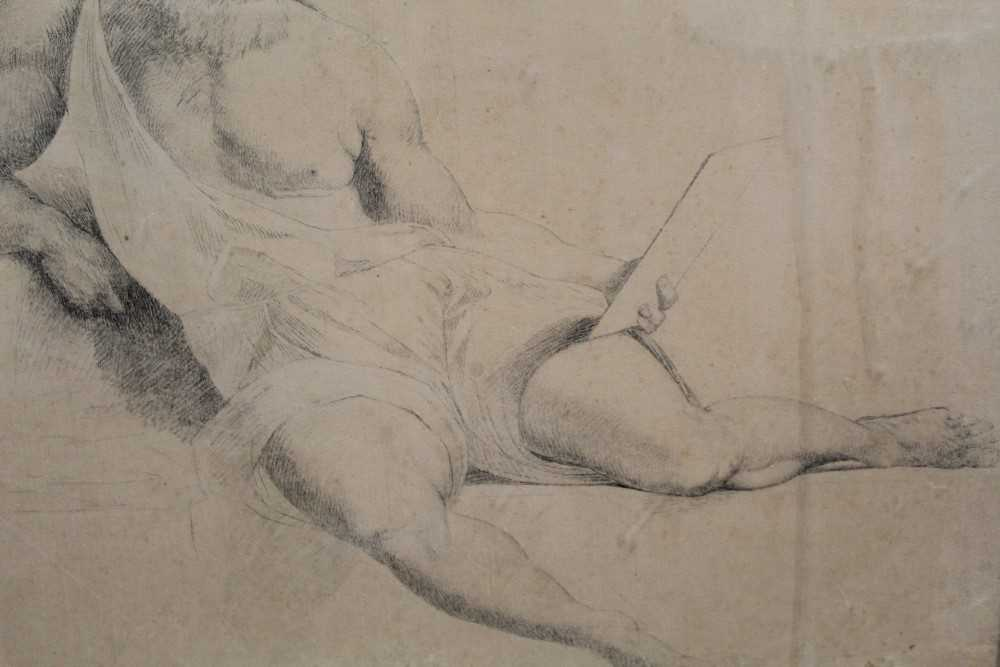 Manner of James Barry (1741-1806) pair of drawings - studies of the Sistine Chapel after Michelangel - Image 3 of 11